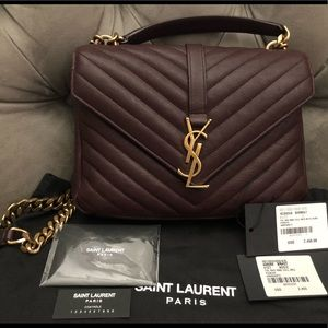 Saint Laurent Medium Matelasse College Bag